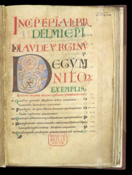 Display Capitals And Decorated Initial, In St. Aldhelm's 'In Praise Of Virginity' f.1r